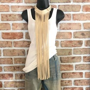 H&M Suede Fringe Necklace New With Tags 🏷
